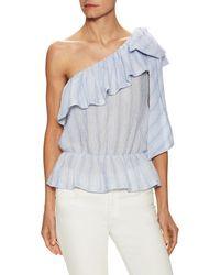 Jill Stuart Aurore One-shoulder Blouse - Blue