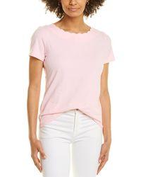 Anne Klein Scallop Top - Pink