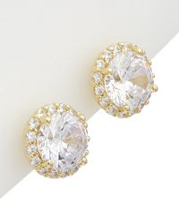 Alanna Bess - Limited Collection 14k Over Silver Cz Stud Earrings - Lyst