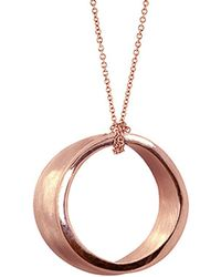 Alex Woo - Eve 14k Rose Gold Round Necklace - Lyst