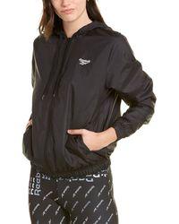 Reebok Vector Windbreaker Jersey Jacket - Black