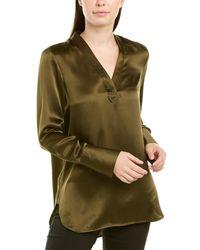 Elie Tahari Silk Blouse - Green