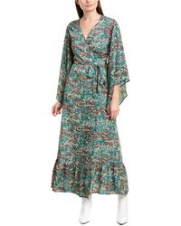 Raga Priscilla Wrap Maxi Dress - Green