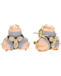 Lele Sadoughi 14k Plated Howlite & Crystal Earrings - Multicolour