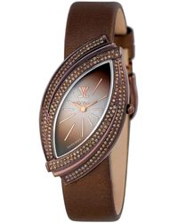 Le Vian ? Leather Diamond Watch - Brown