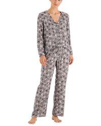 Hanro Sleep And Lounge Woven Shirt - Gray