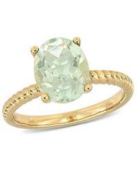 Rina Limor 14k 2.32 Ct. Tw. Green Amethyst Ring - Metallic