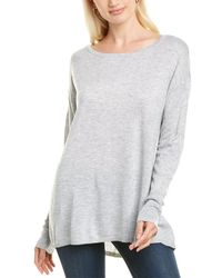 NYDJ Button Back Wool-blend Sweater - Grey