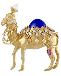 Heritage Tiffany & Co. - Tiffany & Co. 18k Diamond, Lapis Lazuli, & Pearl Brooch - Lyst