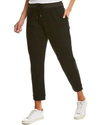 James Perse Two-tone Sweatpant - Black