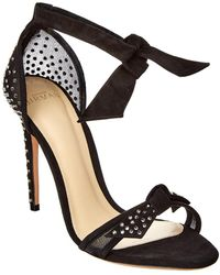 Alexandre Birman Clarita 100 Jewelled Mesh Sandal - Black