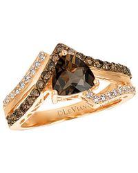 Le Vian - ® Chocolatier® 14k Rose Gold 1.46 Ct. Tw. Diamond & Smoky Quartz Ring - Lyst
