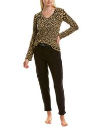 Kendall + Kylie 2pc Cheetah Top & Legging Set - Brown