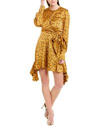 Jonathan Simkhai Keyhole Silk-blend Dress - Orange