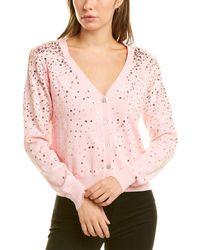 Cinq À Sept Nancy Wool-blend Cardigan - Pink