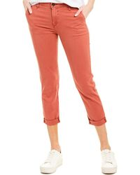 AG Jeans The Caden Red Tailored Trouser