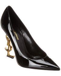 Saint Laurent Swarovski Opyum Double Ankle Strap Sandals - Black