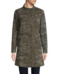 Etienne Marcel Camouflage Military Cotton Jacket - Green