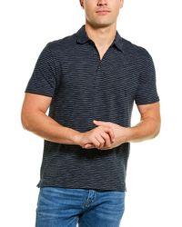 Vince Stripe Polo Shirt - Blue