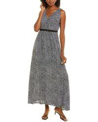 Donna Karan Empire-waist Maxi Dress - Grey