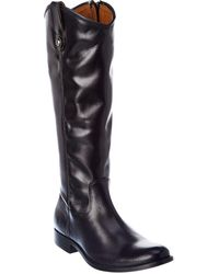 Frye Melissa Inside Zip Leather Boot - Black
