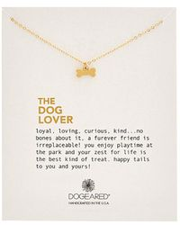 Dogeared - 14k Over Silver Dog Bone Charm Necklace - Lyst