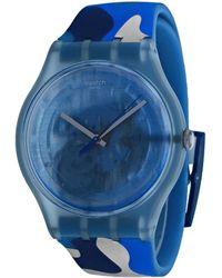 Swatch Skeleton Watch - Blue