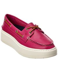 Sperry Top-Sider Platform Leather Boat Shoe - Pink