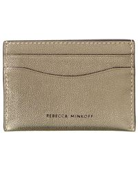 Rebecca Minkoff Leather Card Case - Metallic