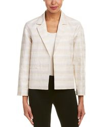 Lafayette 148 New York Frankie Linen-blend Jacket - White