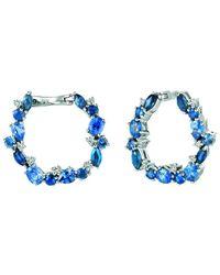 Le Vian ? 14k Vanilla Gold? 3.05 Ct. Tw. Diamond & Sapphire Earrings - Blue