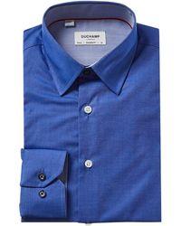 Duchamp Tailored Fit Dress Shirt - Blue
