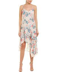 Parker Ruffle Midi Dress - Natural