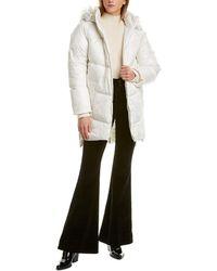 Kensie Side Zip Coat - White
