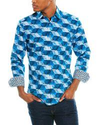 Robert Graham Montico Classic Fit Woven Shirt - Blue