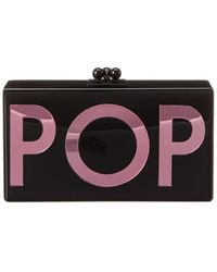 Edie Parker Jean Pop Acrylic Clutch - Black