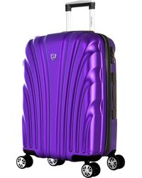 Olympia Vortex 25in Expandable Mid-size Spinner - Purple