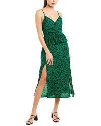 Suboo Leopard Light Midi Dress - Green
