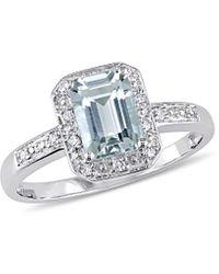 Rina Limor 10k 1.01 Ct. Tw. Diamond & Aquamarine Ring - Metallic