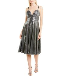 Dress the Population Mimi A-line Dress - Grey