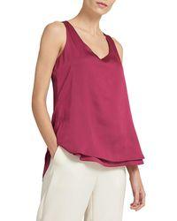 Donna Karan High-low Top - Red