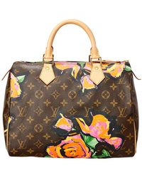 Louis Vuitton - Limited Edition Stephen Sprouse Roses Monogram Canvas Speedy 30 - Lyst