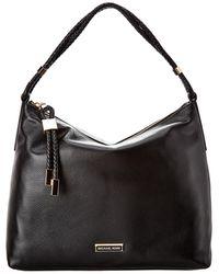 MICHAEL Michael Kors Lexington Leather Shoulder Bag - Black