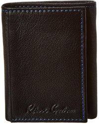 Robert Graham Hill Trifold Leather Wallet - Black