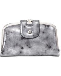 Hobo Halo Leather Wallet - Gray