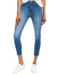 DL1961 Premium Denim Chrissy Huron High-rise Instasculpt Skinny Leg Jean - Blue