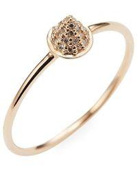 Sydney Evan 14k Diamond Cone Spike Ring - Metallic