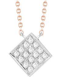 Dana Rebecca - Designs Lisa Michelle 14k Rose Gold Diamond Necklace - Lyst