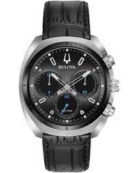 Bulova Men's Leather Watch - Multicolor