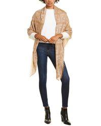Fendi Ff Monogram Cashmere-blend Shawl - Brown